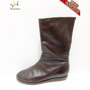 ヨーガンレール JURGEN LEHL ブーツ 24 - レザー 黒 レディース 靴