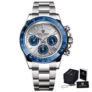 パガーニデザインのメンズ腕時計トップブランドの高級ビジネスサファイアステンレス鋼防水スポーツクロノグラフウォッチレロジオmasculino