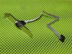 RS232C 9pin シリアルポート外付け 延長 コネクタ 背面ブラケット付き 組み立て マザーボード 201210101