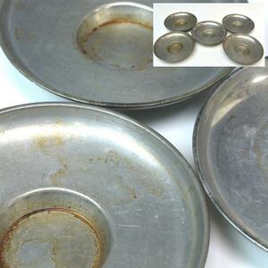 [интересная музыка] тостер реквизит эпохи олово круглый чайный поднос пять эпитафий диаметр 9,5cm L1401