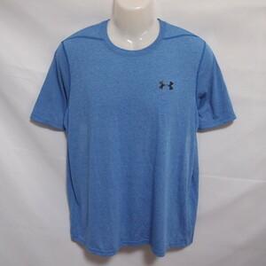 古着 メンズL-XL相当 UNDER ARMOUR/アンダーアーマー ポリエステル Tシャツ プラシャツ 半袖 スポーツ 吸汗速乾 通気性 ブルー 1289583