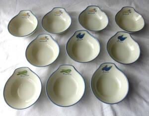 陶器製取り小鉢 3柄10個