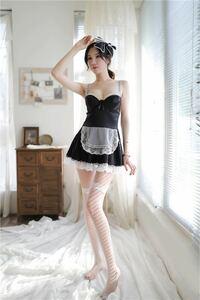 特価処分 セクシーランジェリー コスプレ衣装 ベビードールメイド服 コスチューム 1290