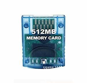 ◆送料無料◆任天堂 Nintendo Wii GCゲームキューブ対応 大容量512MB メモリーカード 2043ブロックx4 互換品