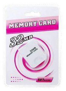 ◆送料無料◆任天堂 Nintendo Wii GCゲームキューブ対応 大容量32MB メモリーカード 互換品