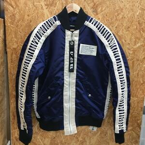 【中古】ディーゼル メンズ ボンバージャケット J-EARLYジャケット 18FW ネイビー系 表記サイズ:L[jggI]