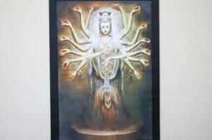 掛軸 曾浩敦煌仏画 絹布印刷複製 120×60    CN01
