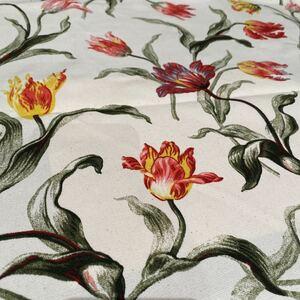 ハギレ・カットクロス 花柄 チューリップ フリンジ咲き