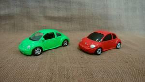Maisto マイスト WELLY ウェリー VW フォルクスワーゲン ニュービートル ダイキャストミニカー 2台 まとめて まとめ売り トミカ 位のサイズ