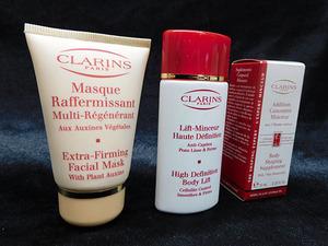 【未使用品】クラランス/CLARINS ファーミング マスク 30ml + ボディ用 ジェル 30ml + ボディ用 美容液 10ml 3点セット [KP28032104]