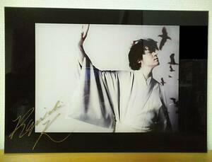河村隆一さん直筆サイン入り写真パネル☆渋谷 東急百貨店『JAPANESQUE』写真集ジャパネスク写真展示会で抽選販売の当選品LUNA SEAルナシー