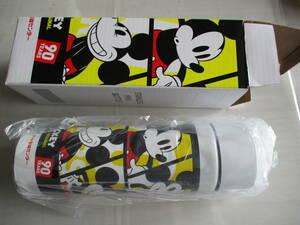 【送料無料】ミッキーマウス90周年記念デザイン ステンレスミニボトル(250ml) 未使用 おまけ付き ※ノベルティグッズ