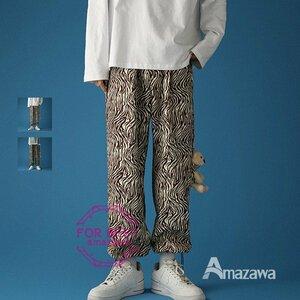 ロングパンツ メンズ テーパードパンツ 豹柄 ロングパンツ メンズ テーパードパンツ 豹柄 カジュアルパンツ 大きいサイズ 春夏