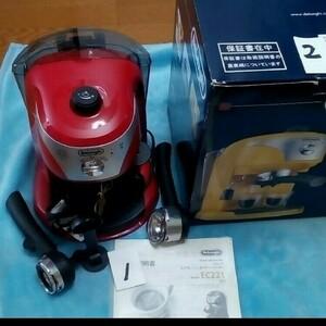 デロンギ 4種類、 単品出品 9999円 。 エスプレッソカプチーノメーカー EC 221、 ほとんど新品