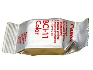 CANON BCI-11 カラー 純正 インクカートリッジ 【単品ばら売り】 未使用未開封 BJ、BJCシリーズ、ワープロ FAX キャノン COLOR