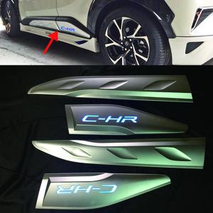 トヨタ C-HR CHR ZYX10/NGX50 LED サイド ドアモール ガーニッシュ 4pcs 外装 パーツカバー(前期対応)