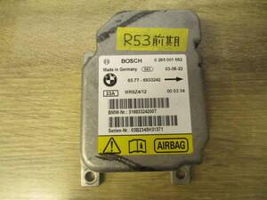 *BMW MINI Mini R53 RE16 previous term air bag sensor computer warning light. lighting . breakdown code is not letter pack post service shipping postage 520 jpy *