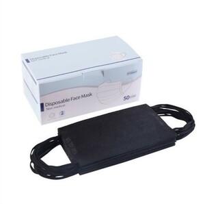 不織布マスク 50枚 普通サイズ 3層構造 使い捨て ブラック 43msk08