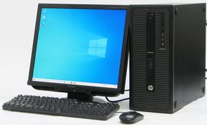 ★ハイスペックゲーミングPC 新品GeForce GTX1050Ti★HP Elitedesk 800G1 CMT-4770■19液晶セット i7-4770/16G/SSD128G+1TB/Win10