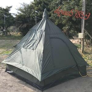 ミリタリー ティピーテント ~4人用 / 軍風 テント 3人用 2人用 1人用 ソロ キャンプ ツーリング