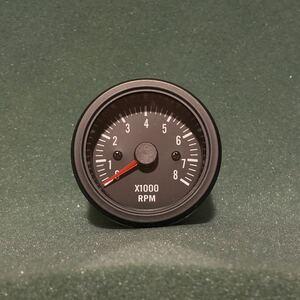 ◆◆ 即決!! 52mm タコメーター ブラック 回転数 旧車 360 N Z T バモス ライフ ステップバン 昭和 レトロ 高速有鉛 クラシック ホンダ ◆