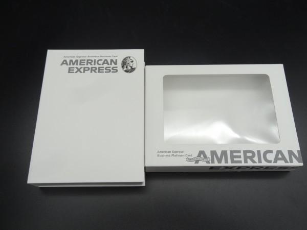 【 アメリカンエキスプレス 】 ビジネスプラチナカードの箱 M2103081