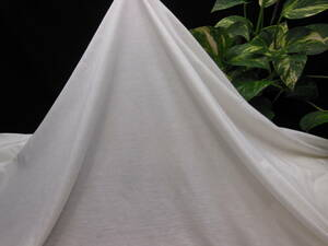 新入荷!掘り出し品!高級ブランド!なかなか手に入らない!シルケット加工!艶の有る!糸細上質綿100%ニット!ホワイト145cm巾×1,5m