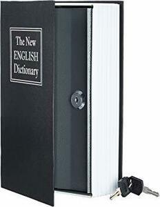 ブラック ベーシック 本型金庫 セーフティーボックス キーロック ブラック