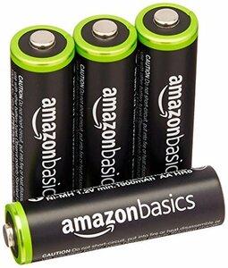 ベーシック 充電池 充電式ニッケル水素電池 単3形4個セット (最小容量1900mAh、約1000回使用可能)