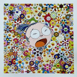 村上隆 版画 ニューデイ セルフポートレイト 100限定 Takashi Murakami New Day Portrait フラワーボール お花