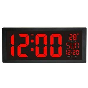 モダンデザイン ウォールクロック 壁掛け時計 カレンダー 温度計 デジタル表示 レトロ フューチャー おしゃれ インテリア |5YQ