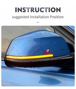 ★送料無料★BMW用流れるウィンカーKIT(ドアミラー用) シーケンシャル BMW 1 2 3 4シリーズX1 F20 F21 F22 F23 F30 F31 F34 F32 E84
