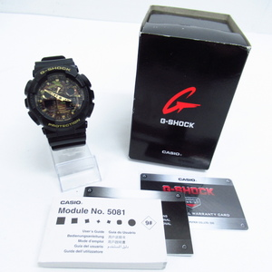 CASIO G-SHOCK カシオ G-ショック GA-100CF クォーツ デジアナ腕時計 ▼AC19526