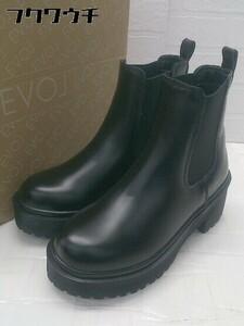◇ ●美品● ◎ EVOL イーボル サイドゴア ショート ブーツ サイズS ブラック レディース
