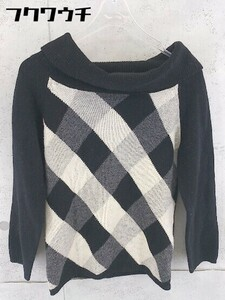 ◇ Kumikyoku 組曲 ウール ニット 長袖 タートルネック セーター サイズ2 ブラック ベージュ グレー レディース