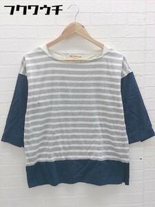 ◇ BEAMS HEART ビームス ハート 七分袖 Tシャツ カットソー グレー ネイビー レディース