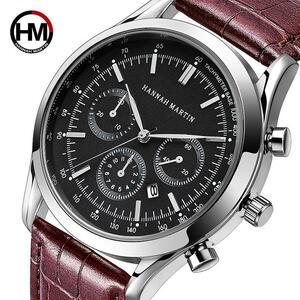 注目!メンズ腕時計 高級トップ ブランド スポーツ 日本クォーツレザー 腕時計 タキパイロット時計 レロジオ Masculino