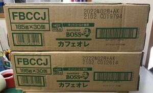 コーヒー ボス カフェオレ 2ケース (1ケース:185g×30本)