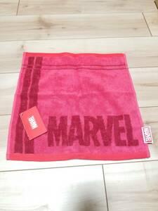 送料無料 ハンドタオル マーベル MARVEL レッド 赤 ハンカチ かっこいい ディズニー Disney ヒーロー アメコミ