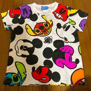 (新品)ミッキー ディズニーリゾート スティッチ Tシャツ TDL ディズニーシー ディズニーランド 半袖Tシャツ 東京ディズニーリゾート 110
