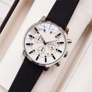 ●★メンズ腕時計 シンプルデザイン クロノグラフ 大人のカジュアル腕時計 128
