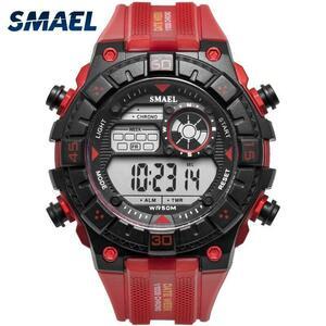 ●★メンズ腕時計 ビッグダイヤル デジタル腕時計 スポーツウォッチ 防水 181