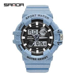 ●★メンズ腕時計 ファッション腕時計 防水 ストップウォッチ LED デジタルディスプレイスポーツ腕時計男 204