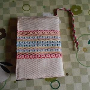 ハンドメイド スェーデン刺繍のブックカバー②文庫本ブックカバー オリジナル 刺繍 刺しゅう入り 手作り