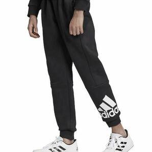 新品 定価4719円 140㎝ adidas アディダス キッズ スウェットパンツ キッズ ロングパンツ 裏起毛 ブラック 黒