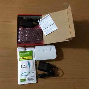 Wi-FiルーターNEC +スイッチングハブBUFFALO+【新品】microUSBケーブル ELECOM PC周辺機器3点セット