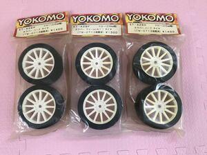 送料無料 当時物 YOKOMO Aラバータイヤ ホイールセット 1/10 未使用 TW-0713 ツーリングカー