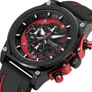 新品 新作 腕時計 メンズ腕時計 アナログ クォーツ式 クロノグラフ ビジネスウォッチ 豪華 高級 人気 ルミナス 防水★UTM20★レッド