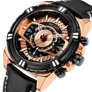新品 新作 腕時計 メンズ腕時計 アナログ クォーツ式 クロノグラフ ビジネスウォッチ 豪華 高級 人気 ルミナス 防水★UTM16ローズゴールド