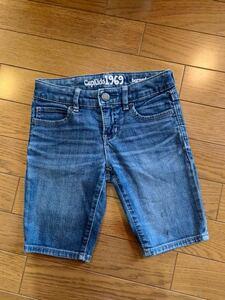Gap Kids ギャップ キッズ 1969 bermuda デニム ジーンズ ショートパンツ ハーフパンツ 6 120 ブルー 青 アジャスター付き 半ズボン 子供服